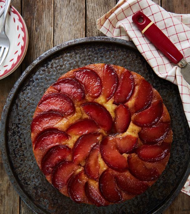 Plum Upside-Down Cake recipe