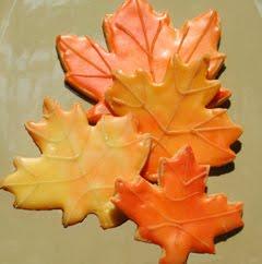 Autumn Fall Maple Leaf Cookies