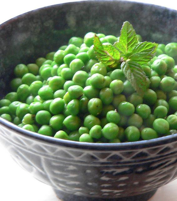 Julia Child's Buttered Peas with Mint