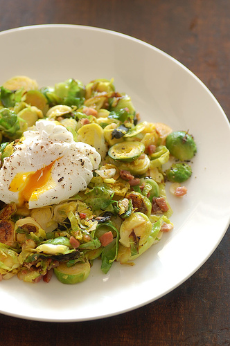 Poached Egg Brussels Sprouts Pancetta