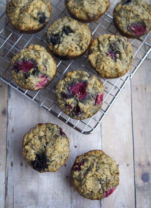 Gluten-Free Berry Chia Muffins