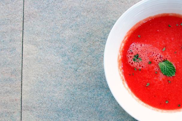 chilled watermelon gazpacho