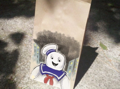 Ghostbusters Lunch Bag Art