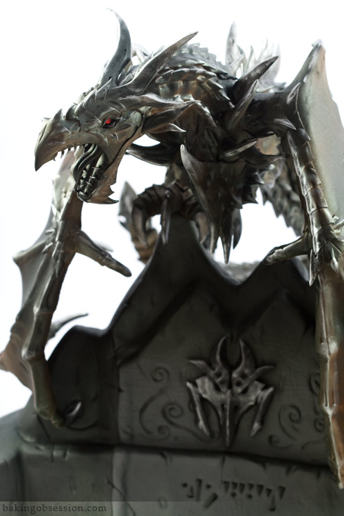 alduin the world eater dragon cake