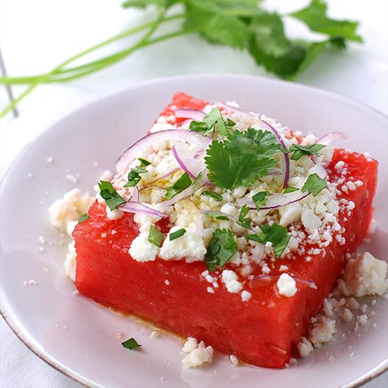 Watermelon and queso fresco salad