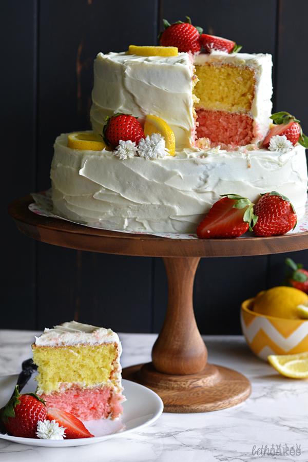 Strawberry Lemonade Layer Cake Southern Living