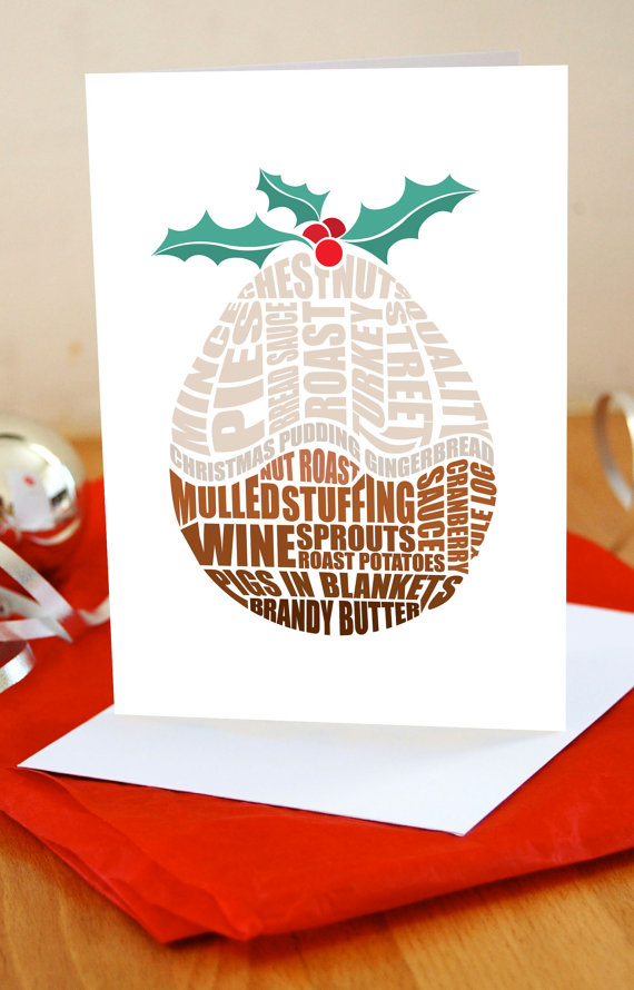 Christmas Food Greeting Cards from LucyLovesThis on Etsy