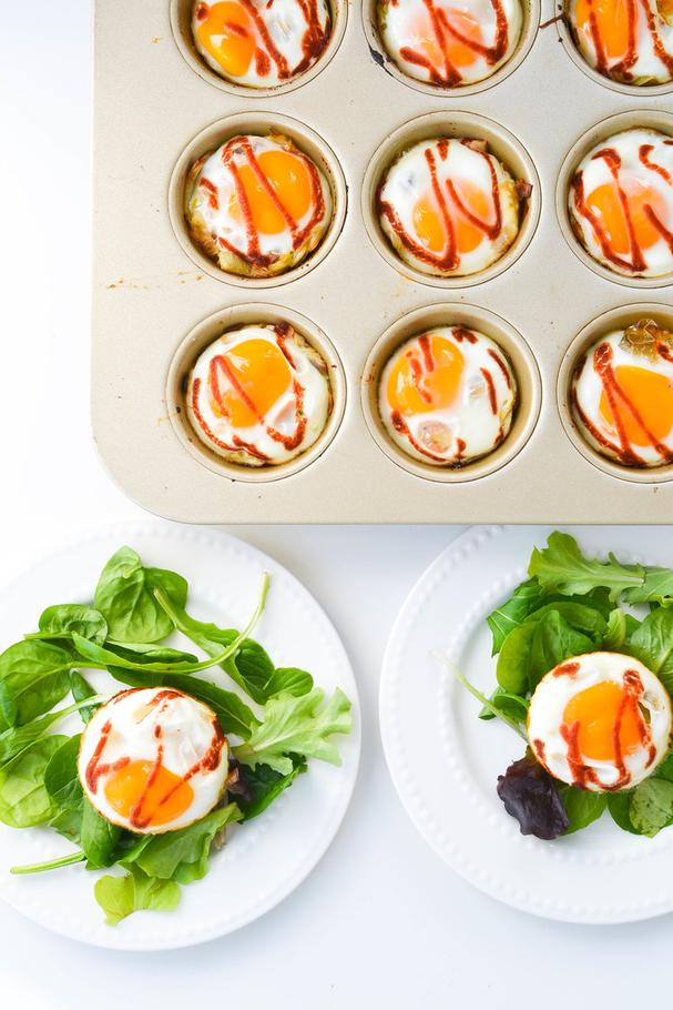 Butternut Squash and Leek Breakfast Egg Cups