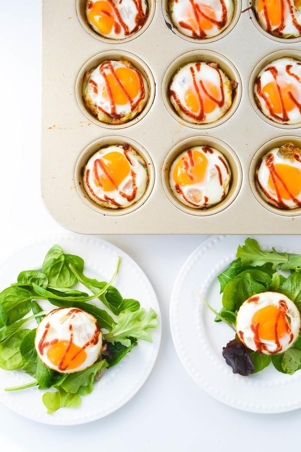 Butternut Squash and Leek Breakfast Egg Cups