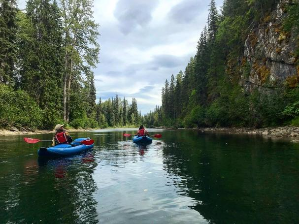 Canoeing at Bear Claw Lodge