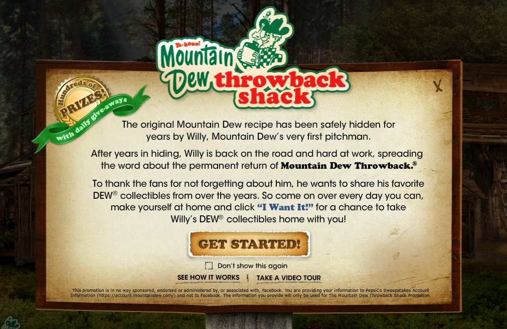 Mountain Dew Throwback Shack
