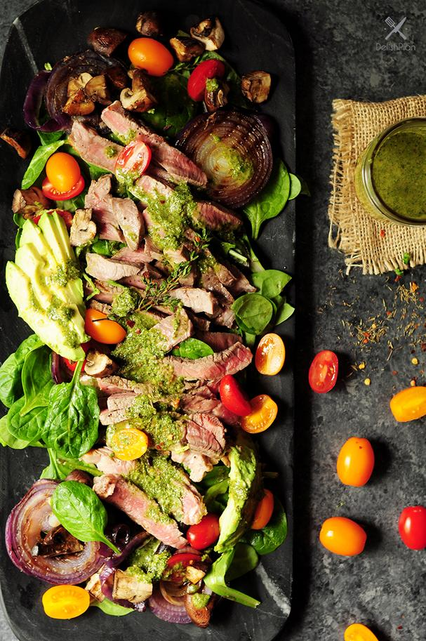 Steak Salad with Chimichurri Sauce
