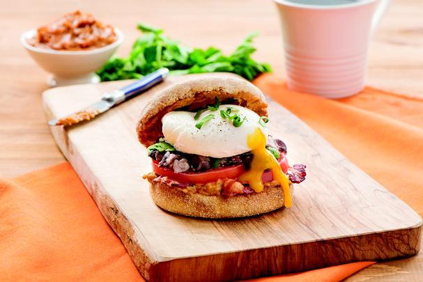 Mexican-style breakfast sandwich