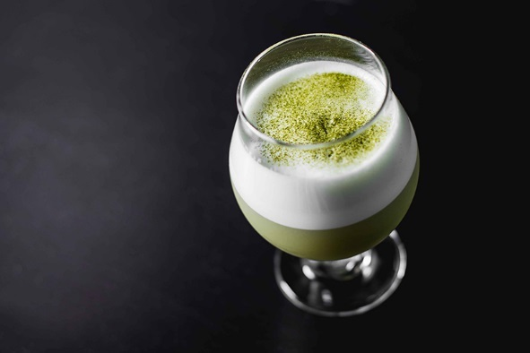 Matcha Flip Green Tea Cocktail
