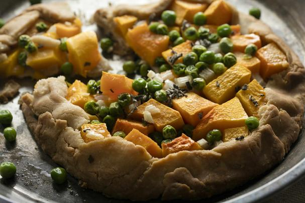 Gluten Free Savory Butternut Suash and Sage Galette