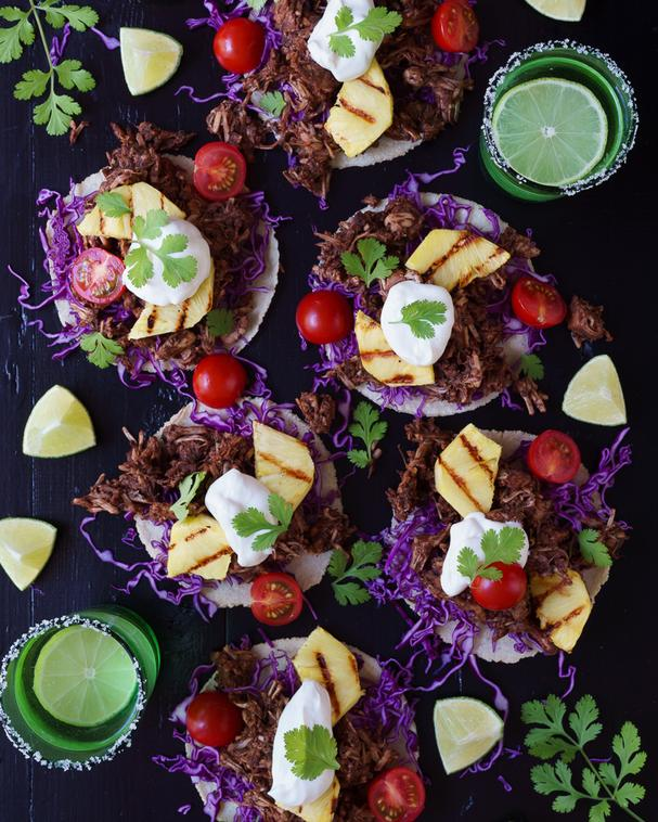 Jerked Jackfruit tacos