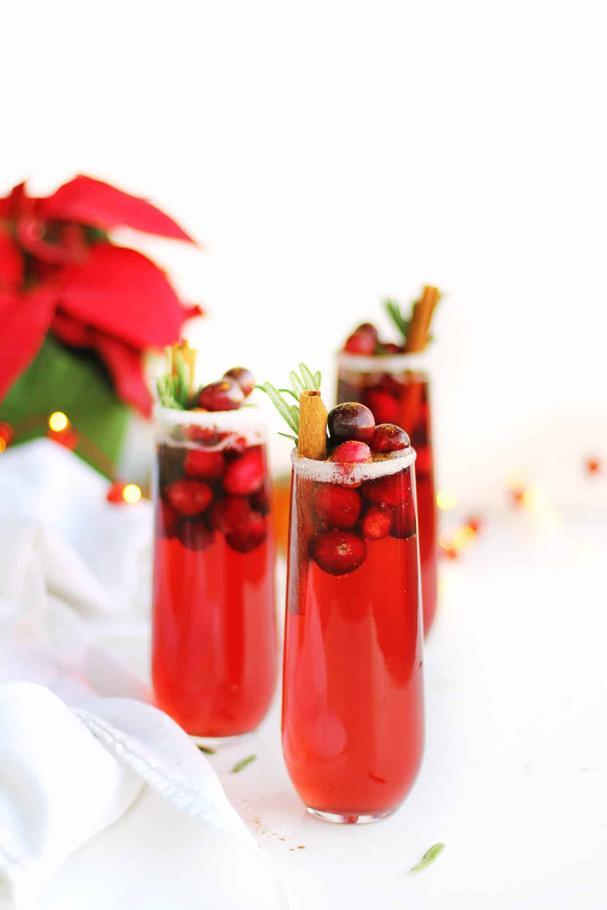 Cranberry Mimosa Mocktail