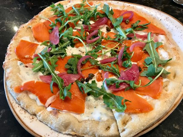 Oregon Wild Caught Salmon Lox Flatbread