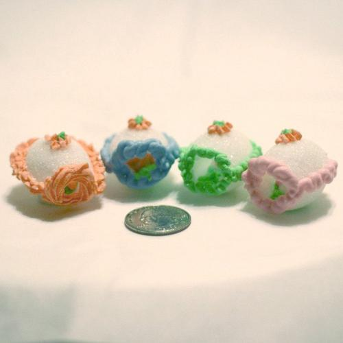 miniature sugar eggs