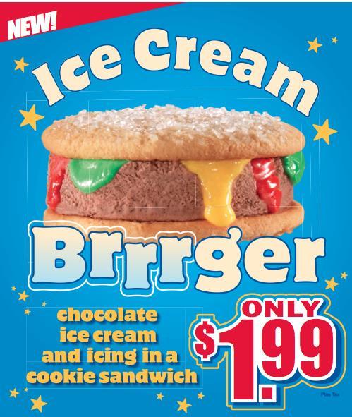 ice cream brrger