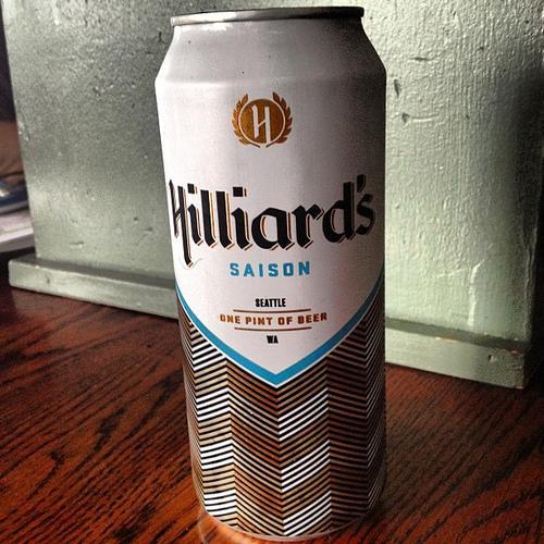 hilliard's saison sumer beer can