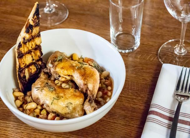Duck confit with beans