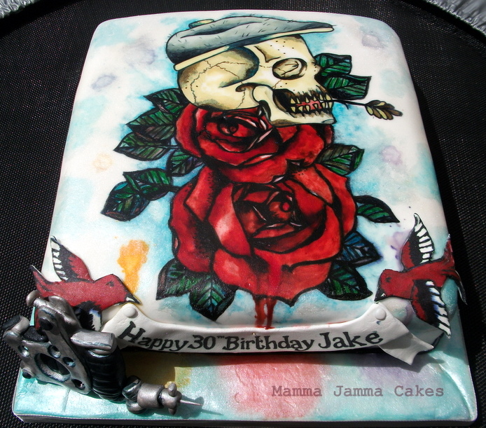 Terrific Foodista This Tattoo Cake By Mamma Jamma Cakes Celebrates A Birthday Cards Printable Riciscafe Filternl