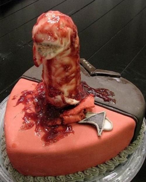 alien chestburster cake
