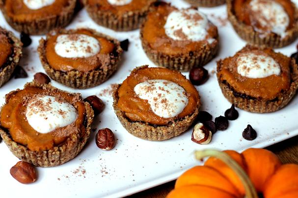 Vegan Mini Chocolate Pumpkin Pies
