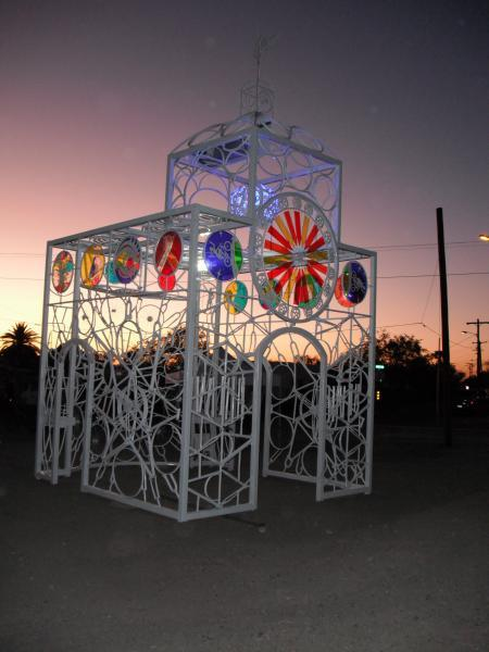 Bike sculpture from the Bike Church in Tucson