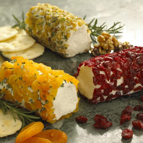 Goat Cheese Log Rolled in Dried Apricot and Rosemary