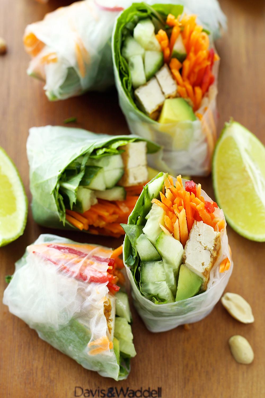 foodista vegan rice paper rolls
