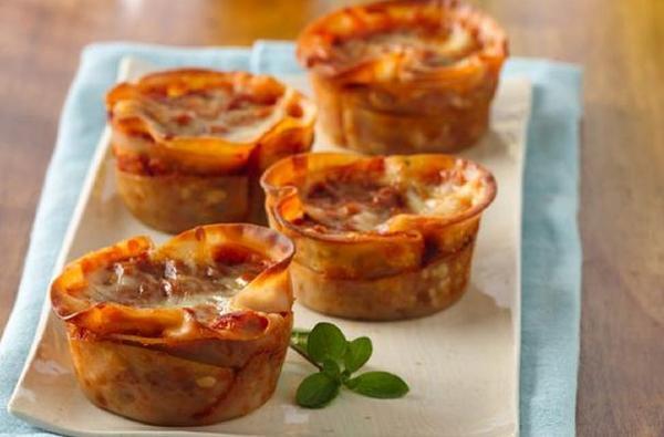 Vegetarian Lasagna Cups