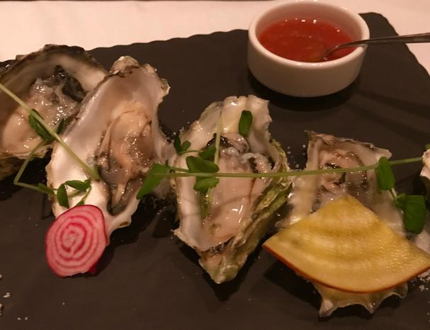 Oysters on the halfshell at The Grill Room