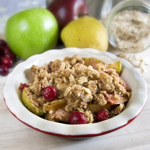 Apple Pear Cranberry Crisp