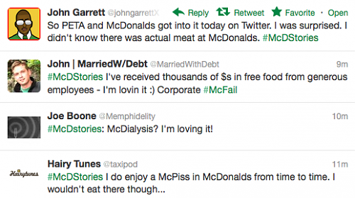 McDonald's McDStories Twitter Promotion