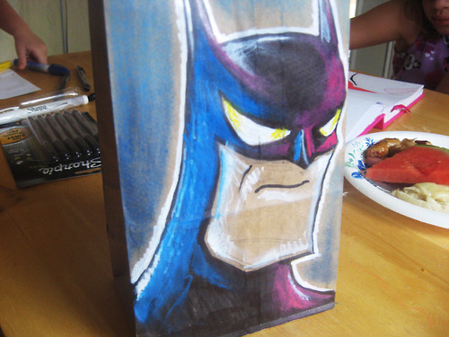 Batman Lunch Bag Art