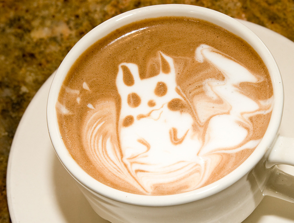 Pikachu Coffee Art