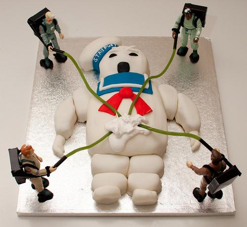 stay puft birthday cake