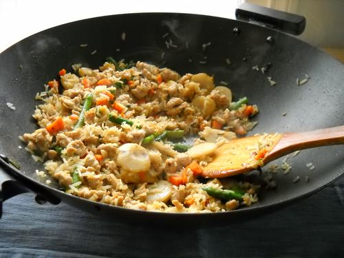 Gluten-free, soy-free chicken fried rice