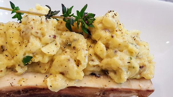 Keto Bone marrow scrambled eggs