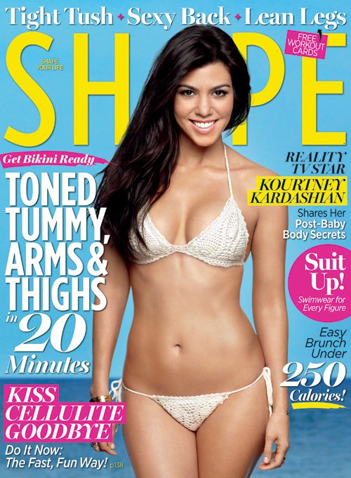 Kourtney Kardashian Shape magazine