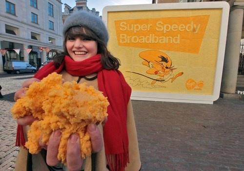 virgin media cheese billboard