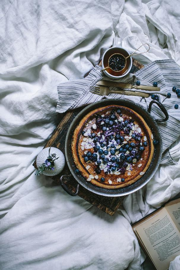 Blueberry Dutch Baby from First We Eat cookbook