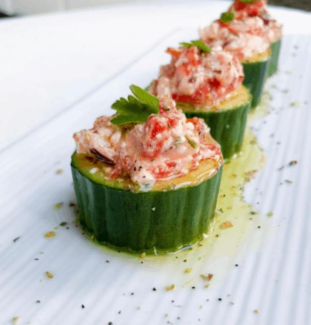 Stuffed Greek Cucumber Cups