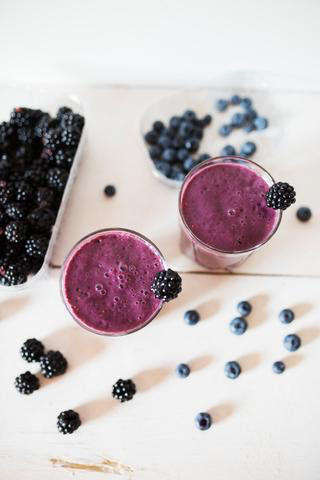 Blackberry Blueberry Matcha Smoothie