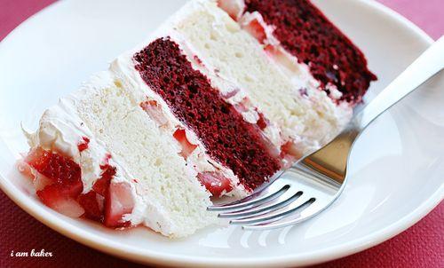 i am baker's AMAZING Red Velvet Strawberry Shortcake