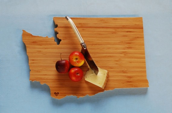 Washington State Cutting Board by AHeirloom on Etsy