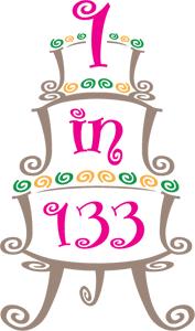 1 in 133 cake logo