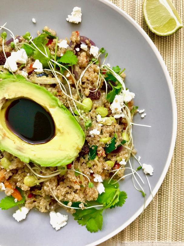 Quinoa, Feta and Avocado Salad